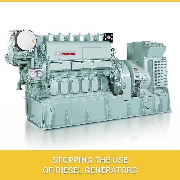Stopping The Use Of Diesel Generators